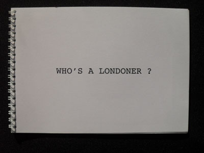 Who's a Londoner? by Charlotte Andrew