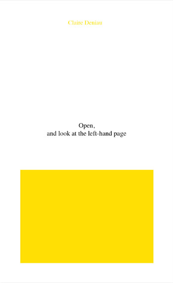 Open, and look at the left-hand page by Claire Deniau