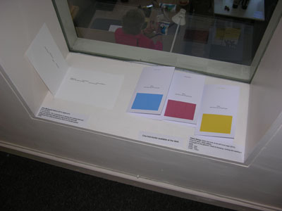 One-fold books at the New Ashgate Gallery, 2012