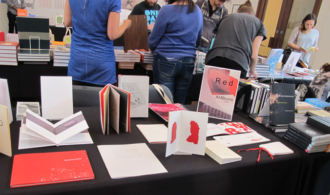 AMBruno: Red at The London Art Book Fair, Whitechapel Gallery