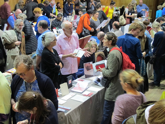 AMBruno: Red at Small Publishers Fair, London